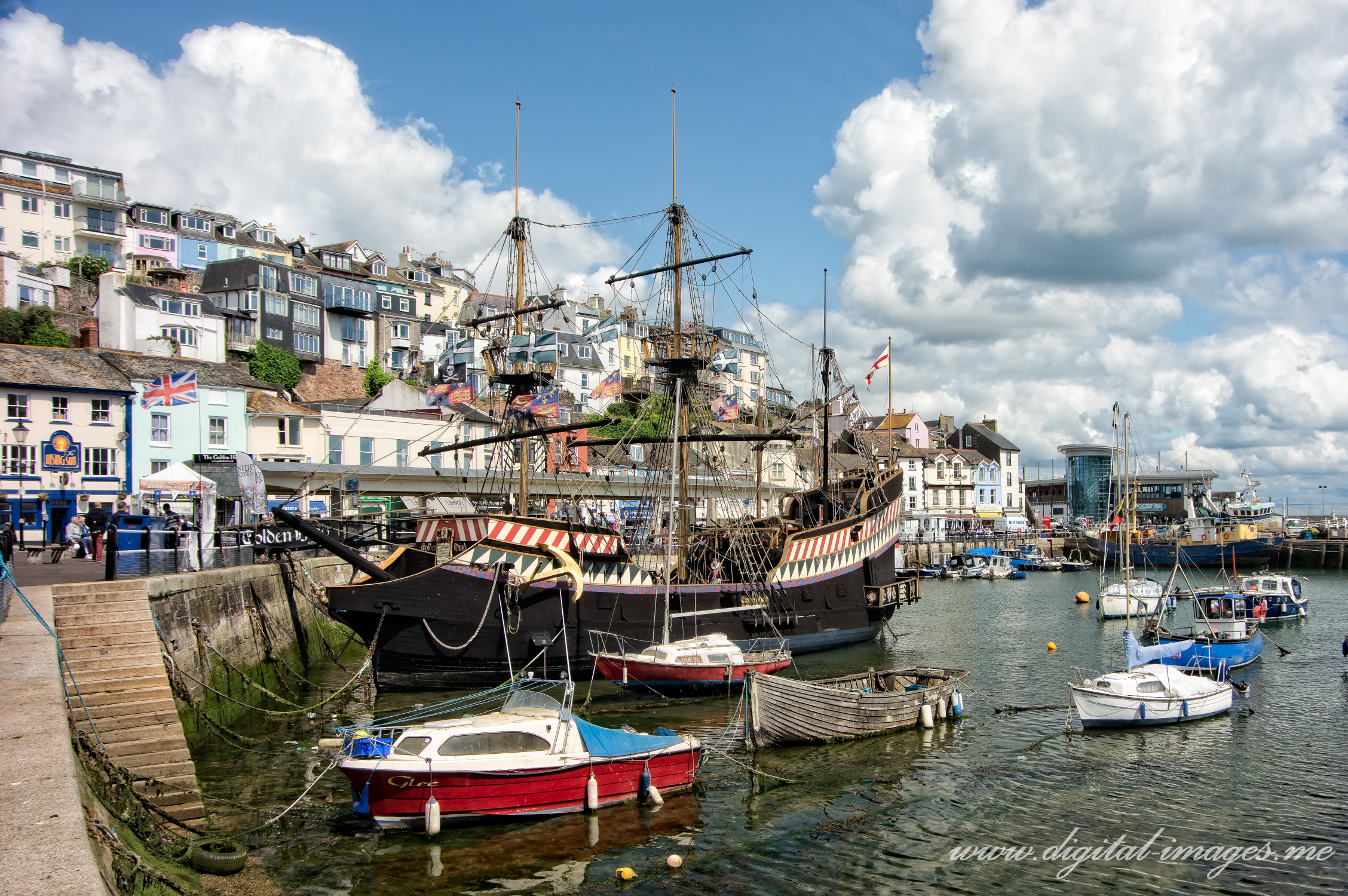 Brixham Harbour in May